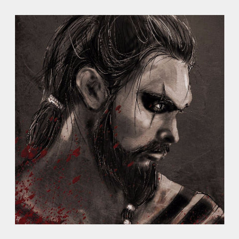 Square Art Prints, Khal Drogo Game of thrones Square Art | Artist: Parikshit Deshmukh, - PosterGully