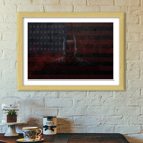 Batman Dark Knight Premium Italian Wooden Frames | Artist : Tiny Dots