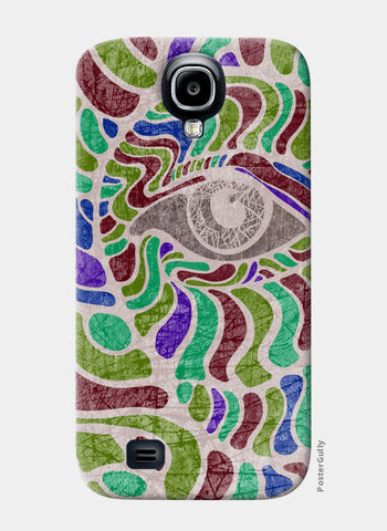 abstract eye colorful vector illustration Samsung S4 Cases | Artist : Simran Sain