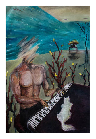 The Pianist Wall Art | Artist : Jazeel Jazim