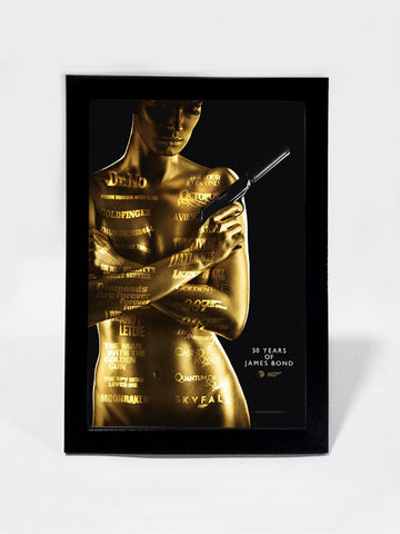 Framed Art, 50 Years Of James Bond | Framed Art, - PosterGully
