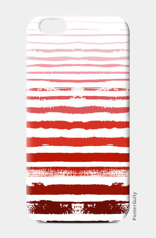 Uneven Red Stripes  iPhone 6/6S Cases | Artist : Amantrika Saraogi