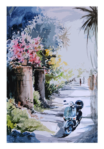 scooter Wall Art | Artist : Pradeesh K