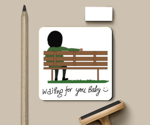 Waiting For You Baby Coaster Coasters | Artist : Tripund Media Works