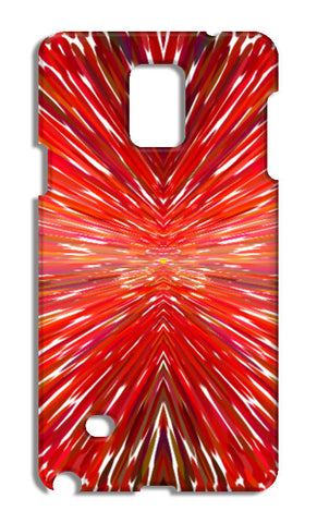 Abstract Red Burst Modern Design Samsung Galaxy Note 4 Cases | Artist : Seema Hooda