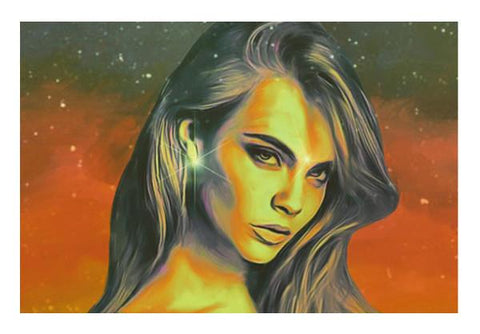 PosterGully Specials, Cara Delevingne Wall Art  | Artist : Delusion, - PosterGully