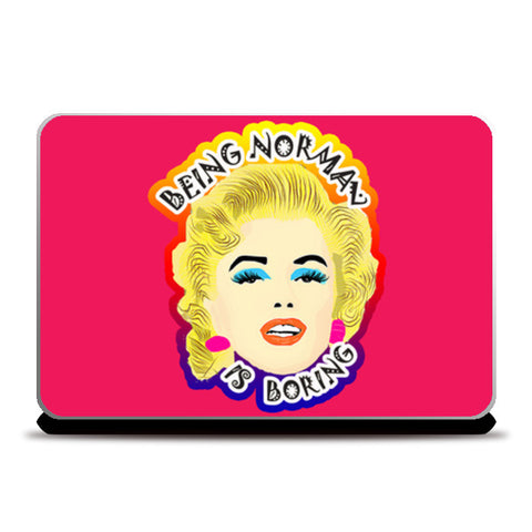 Marilyn Monroe Quote Laptop Skins | Artist : Design_Dazzlers