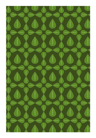 Seamless pattern with leaves on green background Wall Art | Artist : Designerchennai