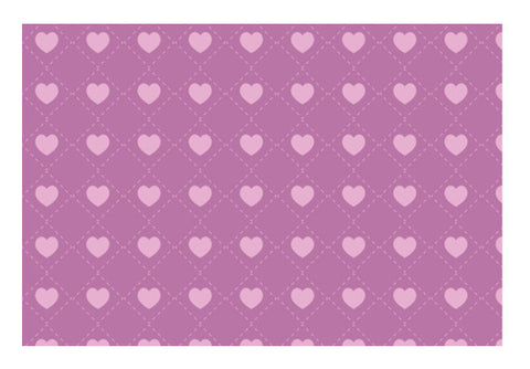 Square Hearts Pattern Purple Art PosterGully Specials