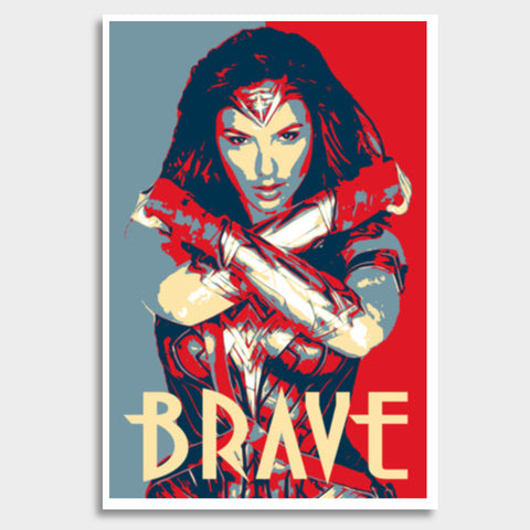 Wonder Woman Brave Giant Poster | Artist : LinearMan