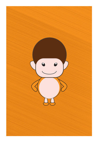 Happy Smiling Funny Cartoon Boy Art PosterGully Specials
