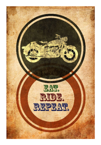 Wall Art, Eat Ride Repeat Wall Art | Artist: Abhishek Faujdar, - PosterGully