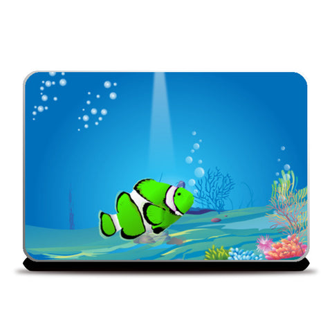 Into the sea Illustration Laptop Skins | Artist : Abhishek Vishwakarma