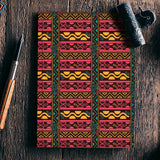 Abstract geometric pattern african style Notebook | Artist : Designerchennai