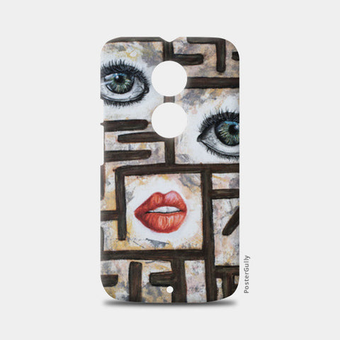 Maze behind my face Moto X2 Cases | Artist : Anitha Vallikunnel