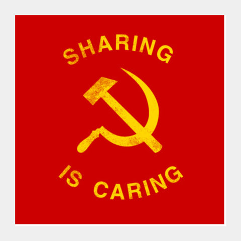sharing is caring Square Art Prints | Artist : Scatterred Partikles