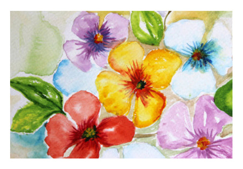 Wall Art, Tropical Colorful Spring Flowers Wall Art  | Artist : Seema Hooda, - PosterGully