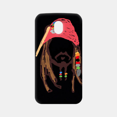 Jack Sparrow Pirates Of The Caribbean Minimal Doodle Moto G3 Cases | Artist : Praband