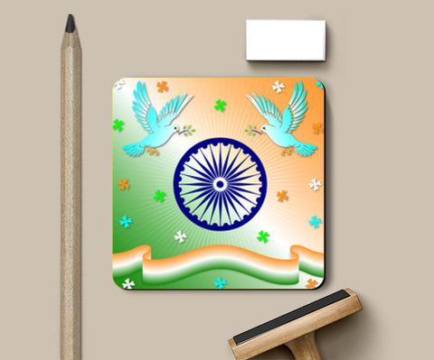 Coasters, Republic Day Coasters | Artist : Madhumita Mukherjee, - PosterGully