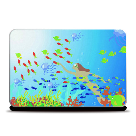 Laptop Skins, amazing water world Laptop Skins | Artist : Vidhisha Kedia, - PosterGully