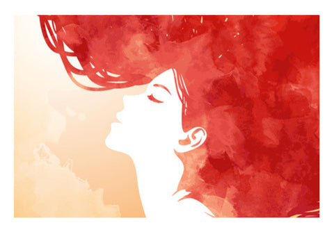 Wall Art, Red Girl Inspiration Wall Art  | Artist : Pranit Jaiswal, - PosterGully