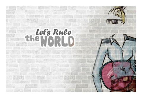 PosterGully Specials, Lets Rule The World Wall Art | Artist : Anushree Jaiswal, - PosterGully