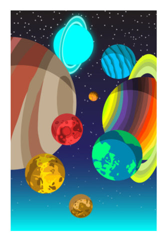 Wall Art, blured planets Wall Art | Artist : vashu savani, - PosterGully