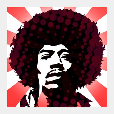 Square Art Prints, Jimi On Acid Square Art | Artist: Athul Menon, - PosterGully