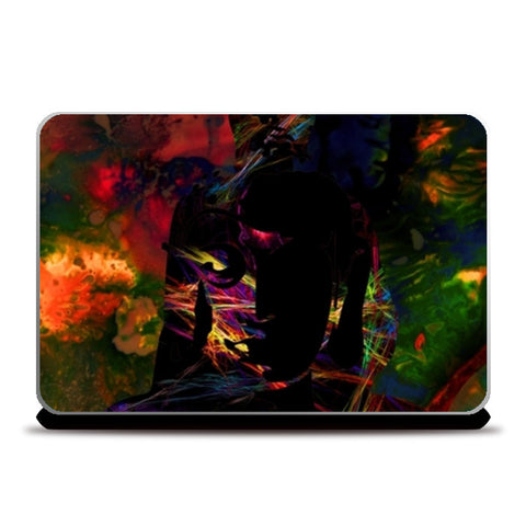 The Buddha Dark Night Laptop Skins | Artist : Tiny Dots