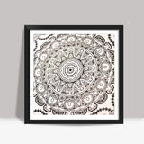 love hippie Square Art Prints | Artist : the scribble stories