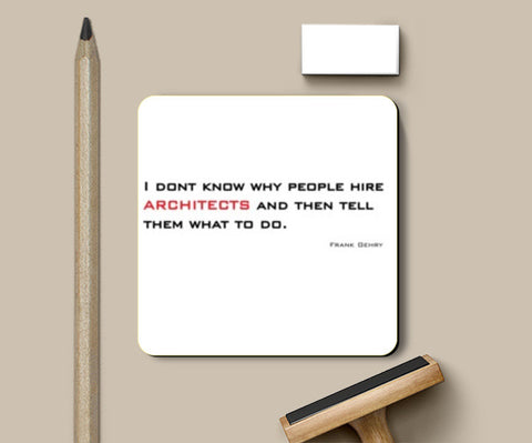 Coasters, architecture quote Coasters | Artist : Sonia Punyani, - PosterGully