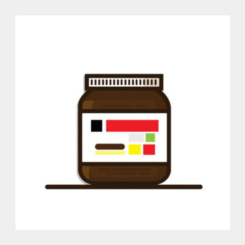 PosterGully Specials, Nutella Square Art Prints | Artist : Sarbani Mookherjee, - PosterGully