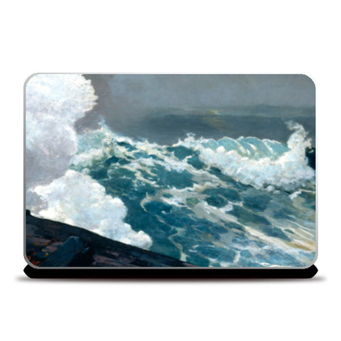 Northeaster by Winslow Homer Laptop Skins | Artist : Aditya Gupta