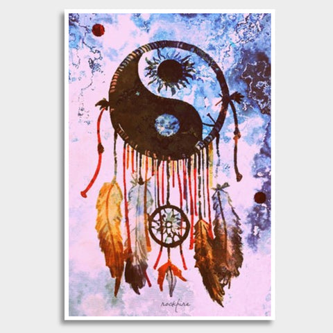 YinYang DreamCatcher Giant Poster | Artist : Rockpire Designs