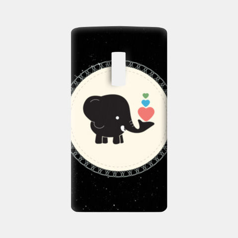 Cute baby black elephant One Plus Two Cases | Artist : Designerchennai