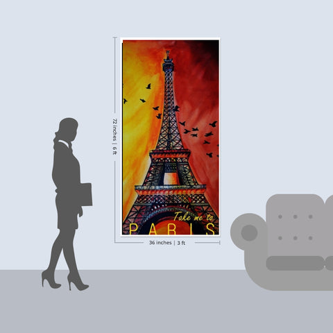 Paris, please? Door Poster | Artist : Chahat Suri