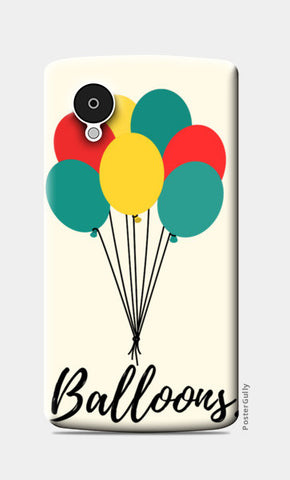 Colorful Balloons Nexus 5 Cases | Artist : Ankita Sharma