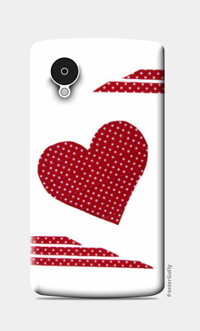 Nexus 5 Cases, Dotted Heart Nexus 5 Case I Artist: Seema Hooda, - PosterGully