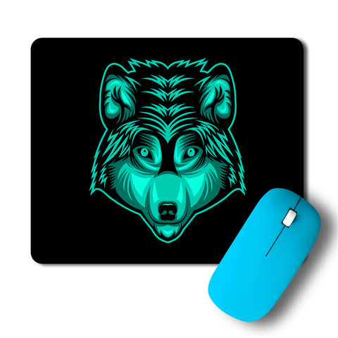 Wolf Head Artwork Mousepad