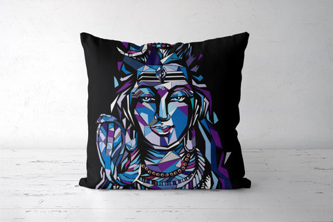 Shiva cushion cover Cushion Covers | Artist : soumik parida