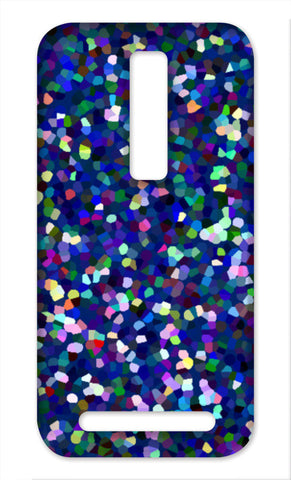 Blue Abstract Mosaic Multicolored Pattern Asus Zenfone 2 Cases | Artist : Seema Hooda