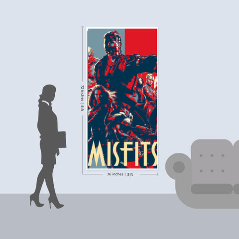 Guardians of Galaxy : Misfits Door Poster | Artist : LinearMan
