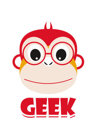 Red Geek Monkey Art PosterGully Specials