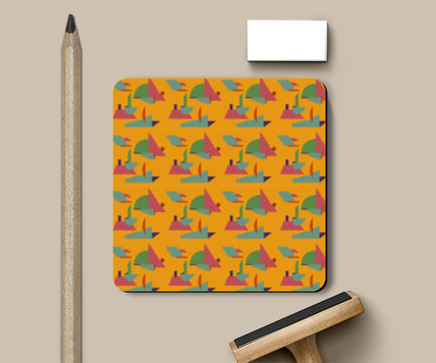 PosterGully Coasters, yellow bright print coasters Coasters | Artist : looshmoosh, - PosterGully