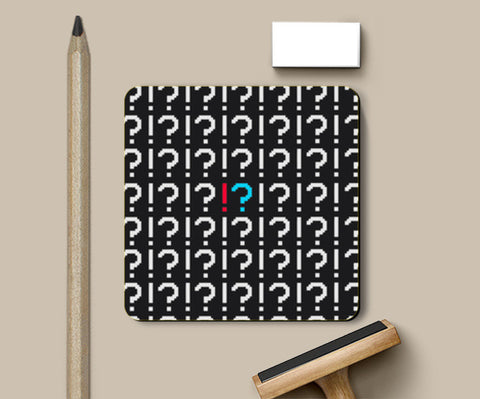 Coasters, QUESTION EXCLAMATION Coasters | Artist : Ayush Yaduv, - PosterGully