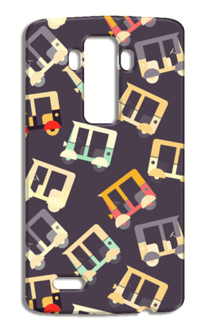 Auto rickshaw quirky pattern LG G4 Cases | Artist : Designerchennai