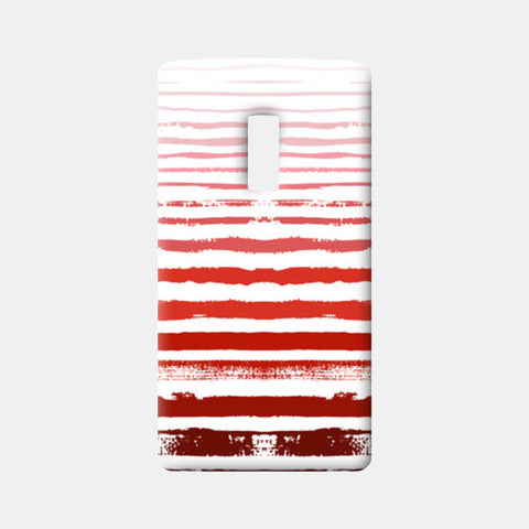 Uneven Red Stripes  One Plus Two Cases | Artist : Amantrika Saraogi