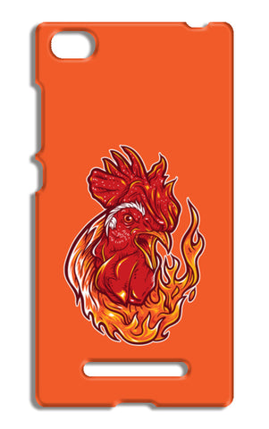 Rooster On Fire Xiaomi Mi 4i Cases | Artist : Inderpreet Singh