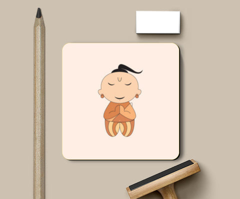 Brahmin Kid cartoon Coasters | Artist : Mani Selvam