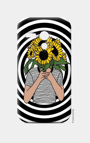 sunflower mono Moto G Cases | Artist : Priyanka Paul